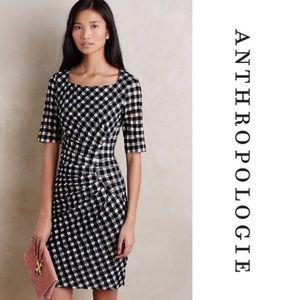 Anthro Elorn Dress Checkered Maeve Black White 0P